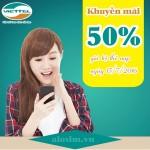 Ngày 15/7/2016 Viettel khuyến mãi 50% giá trị thẻ nạp