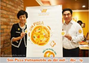 Vietnamobile ra mắt Sim PIZZA nhiều ưu đãi mới - độc - lạ